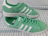 Adidas Men's Campus Green Glo and White Sneakers #BZ0076 Size 11.5