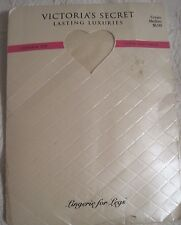 NWT VINTAGE VICTORIA'S SECRET LASTING LUXURIES SHEER STOCKINGS IN CREAM! SIZE M!