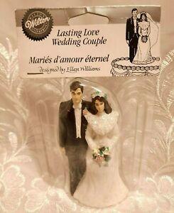 "Wilton Wedding Cake Couple: ""LASTING LOVE"" Beautiful Brunette Vintage 1991"