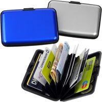 2 FABRIZIO Aluminium Börsen Blau Silber EC-Kartenetui Kreditkartenetui Geldbörse