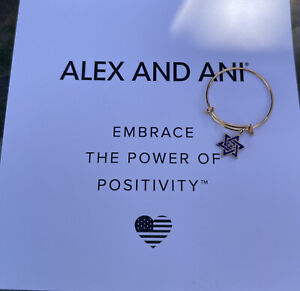 Alex and Ani Star Of David Expandable Wire Ring w/Charm ~ 14K Gold Filled