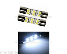 2x White Visor Vanity Mirror LED Light Bulbs Chevy Chevrolet Cadillac Ford GMC