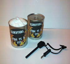 New Survival Fire in a Tin  ( Large Swedish Army Firesteel in a sealed Can )