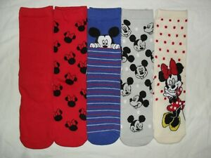new 5prs ladies/older girls Disney mickey/minnie mouse ankle socks.UK 4-7