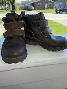 TIMBERLAND  Baby Toddler SIZE 7 LEATHER BOOTS Slip On Latch And Hook Durable