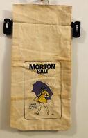 Vintage MORTON SALT 10lb Cloth Sack Bag by Bagtiques 1981