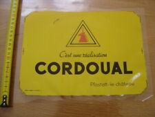 Ancienne Publicite plastique autocollante CORDOUAL PFASTATT LE CHATEAU colle plu