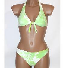 Prima Classe Costume due pezzi bianco verde mappa bikini Alviero Martini M