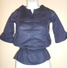 Old Navy Girls Bell Sleeve Tunic Blouses Navy M/8 NWT