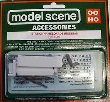 Modelscene 5095 3 x Modern Station Nameboards '00' Gauge = 1/76th Scale New Pack