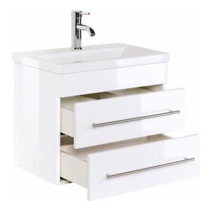 Badmöbel Waschtisch Waschbecken Mars Slimline 3 Größen 7 Farben Softclose Modern