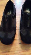Womens Cobbie Cuddlers Black Suede Slip On Zipper Shoes 8W