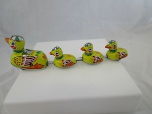 Vintage 1990's Era Blic Duck With Chicks Wind Up Toy For Boys, Girls