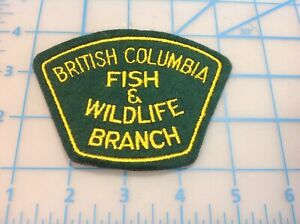 BRITISH COLUMBIA FISH AND WILDLIFE BRANCH Embroidered Patch