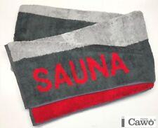 CAWö 599 Toalla de Sauna sofá baño 72 Antracita Rojo 80/200cm