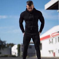 New Men's Hoodie Zip Hooded Sweatshirt Tops Casual Slim Jacket Coat M L XL XXL