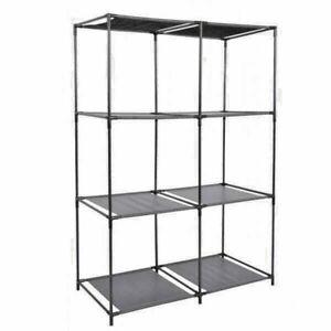 6 Unit  Shelf Home Storage In Black 68.5 x34.5 xH104cm fits most storage boxes