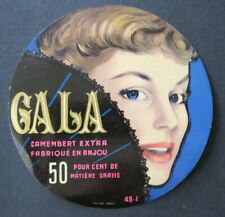 Etiquette fromage CAMEMBERT GALA  anjou French cheese label 21