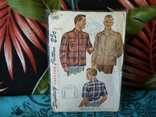 40s Simplicity Mens shirt sewing pattern 1961 M 38-40 chest