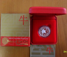 "2009 $1 Silver Proof: Lunar Series -  ""Year of the Ox."""