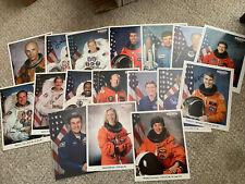 Lot of 16 Nasa Shuttle Era Astronaut Hand Signed 8x10 Photos 100% Authentic