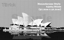 TOYBRICK - Build Your Own Custom Mosaic Art 64x64 STUDS - Monochrome Style