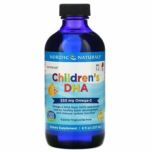 Nordic Naturals, Children's DHA, Ages 1-6, Strawberry, 530 mg, 8 fl oz (237 ml)