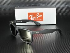 RAY BAN RB4165 622 5A Rubber Black Light Brown Mirror Gold 55mm Men's Sunglasses