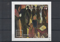 Palau 2014 MNH World Famous Paintings 1v Imperforate S/S August Macke Farewell
