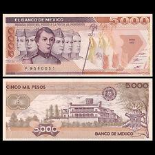 Mexico 5000 (5,000) Pesos, 1987, P-88b, banknote, A-UNC