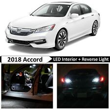 White LED Light Interior Map Dome Reverse Package Kit Fit 2018 Honda Accord