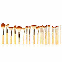 Jessup New 8/10/15/25pcs Bamboo Makeup Brush Set Cosmetic Brushes Make up Tools