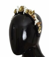 NEW DOLCE & GABBANA Crown Gold Brass Roses Crystal Sicily ANGEL Tiara Headband
