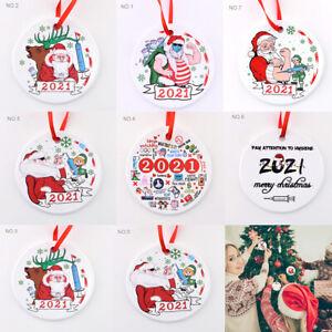2021 Ceramics Christmas Tree Hanging Ornaments Vaccine Protection Pendant Decor