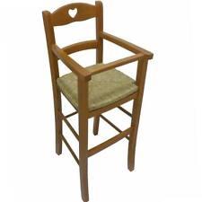 Sediolone in legno noce chiaro con seduta in paglia seggiolone sedia bimbo