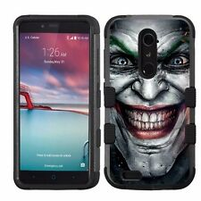 for ZTE Zmax Pro / Imperial Max Hard+Rubber Hybrid Impact Cover Joker #1JY