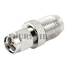 4 Pack - SMA Male Plug to F-Type Female Jack RF Coax Adapter Converter Connector