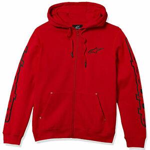 Alpinestars Men's Determine Fleece Long Sleeve Hoodie Red Clothing Apparel Sk