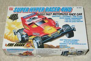 1989 Bandai Super Hyper Racer 4wd Fire Shark 1/32 Motorized Race Car #9020