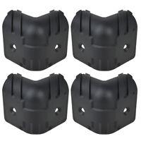 4 Pcs Guitar Amplifier Speaker Cabinet Corner Protectors L Black Plastic