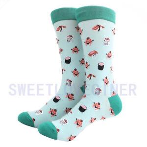 Fashion Brand Mens Cotton Happy Socks Fancy Design Colourful Casual Long Socks