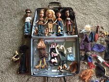 Lot Of 5 Bratz Dolls With Extra Clothes, Accessories, Case And Shoes