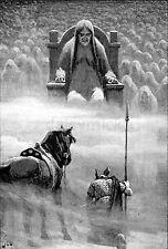 Viking Mitologia Norvegese dèi HERMOD prima Hela 1909, 7x5 pollici stampa
