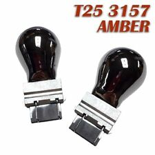 Front Signal Light T25 3057 3157 4157 Amber Silver Chrome Bulb for Dodge Ram