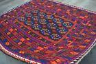 SIZE : 250 x 290 CM Handmade Vintage Kelim Area Rug / Wool Handmade Tribal Area