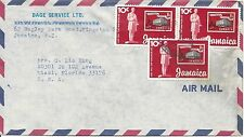 JAMAICA - SCOTT'S # 457 (PAIR AND SINGLE) ON COVER