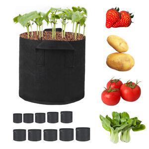 Grow Bags Garden Heavy Duty Non-Woven Aeration Plant Fabric Pot Container Bag 7