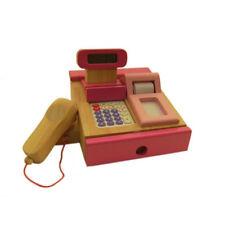 Estia 600121 Kasse Holz Rechner und Scanner in pink für Kaufladen NEU! #