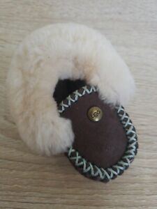 Ugg Boot Bootie Slippers Brown Keychain New