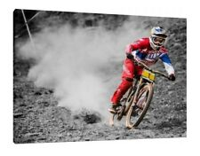 Aaron Gwin 30x20 pollici Canvas-Ciclismo Foto Incorniciata Wall Art Print Downhill